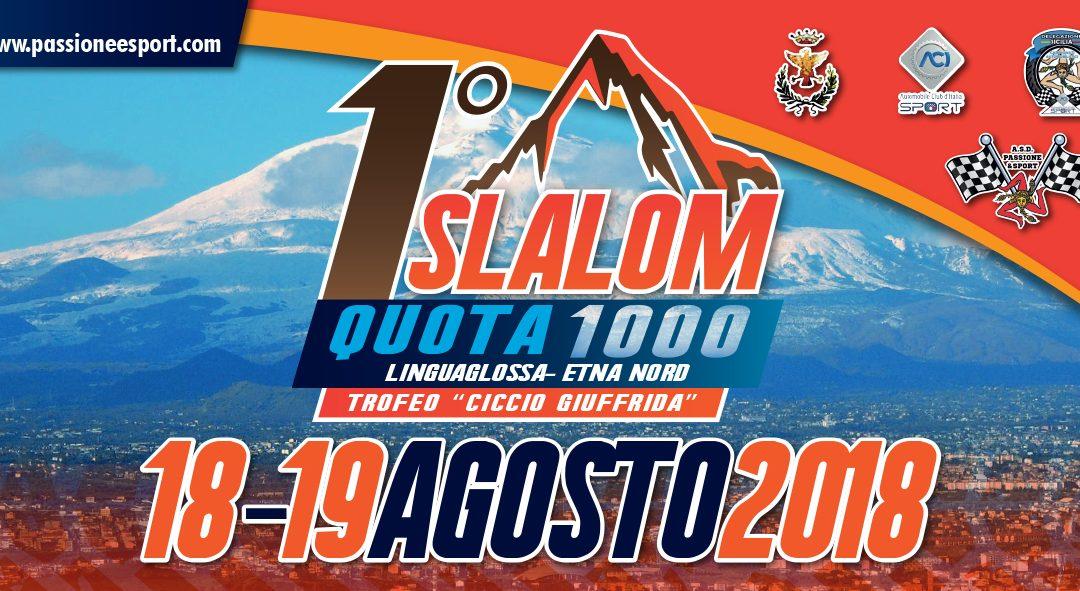 Il 1° Slalom Quota 1000 sull'Etna il 18 e 19 agosto
