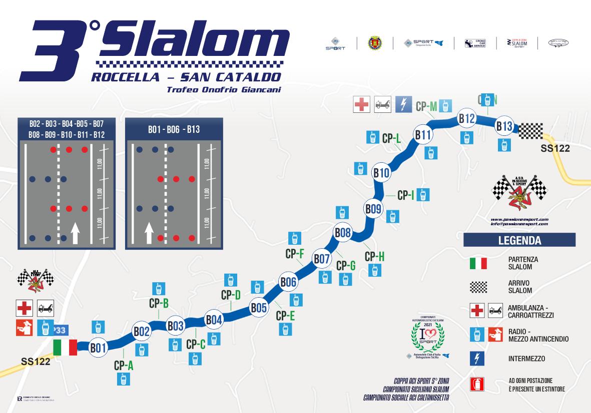 Cartina 3° Slalom Roccella - San Cataldo